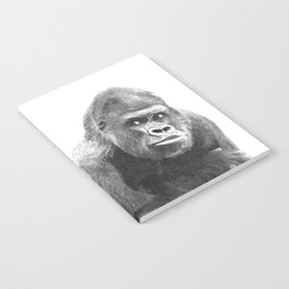 Black and White Gorilla Notebook