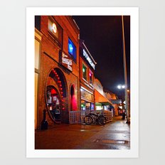 South Tacoma night scene Art Print