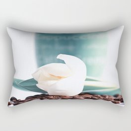 Coffee Time and spring flowers Rectangular Pillow