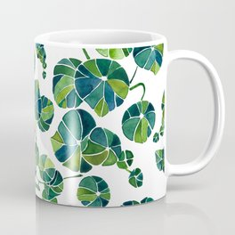 Tropical Succulent Leaves Pattern / Watercolor Painting Coffee Mug