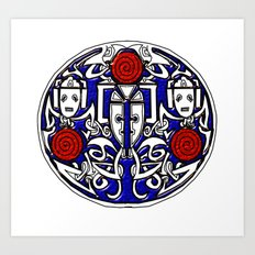 Celtic Cyberman brooch Art Print