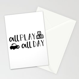 All Play All Day Kids Quote Art Stationery Cards