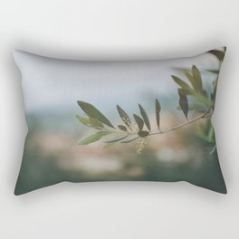 The Majestic Olive Tree Branch Rectangular Pillow