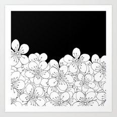 Cherry Blossom Boarder Art Print