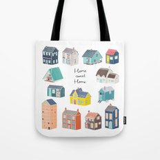Home Sweet Home - Little Houses Print Tote Bag