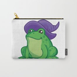 Cartoon Frog Wizard Carry-All Pouch