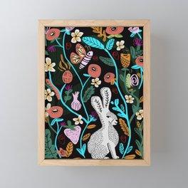 Follow The White Rabbit Framed Mini Art Print