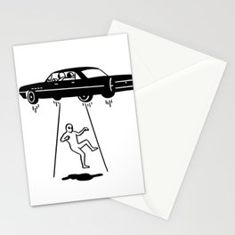 car abduction of aliens Stationery Cards