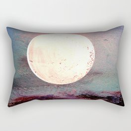 Tonight, I Am Dreaming That We Can Sleep Under The Same Moon. Rectangular Pillow