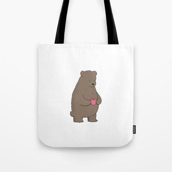 Bear & Heart  Tote Bag