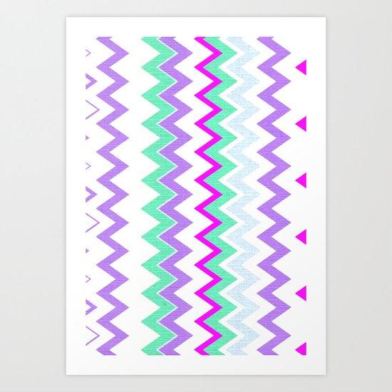 Zig-Zag 3 Art Print