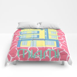 Miami Landmarks - Crescent Comforters