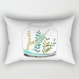 Narwhal in a jar Rectangular Pillow