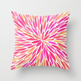 Watercolor Burst – Pink Ombré Throw Pillow