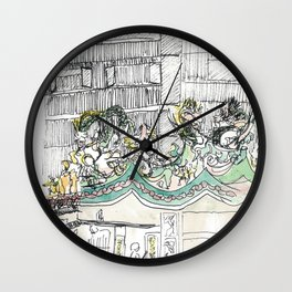 sketch_temple Wall Clock