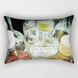 Time is Tonic Rectangular Pillow