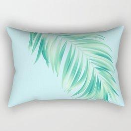 Aqua Tropical Palm Rectangular Pillow