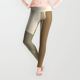 Abstraction Shapes 2 in Neutral Shades (Sun, Moon Phases and Window) Leggings