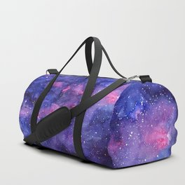Galaxy Pattern Watercolor Duffle Bag