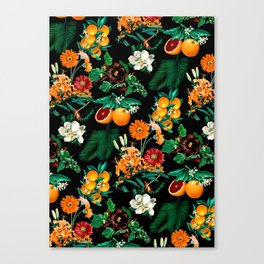 Fruit and Floral Pattern Canvas Print