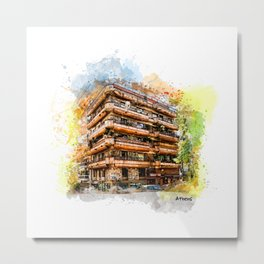 Athens architecture Metal Print