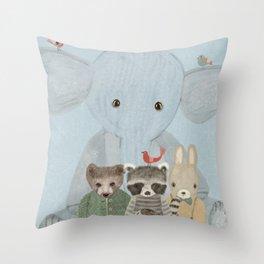 littlest woodland Throw Pillow