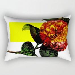 Vintage Bloom /Neon Block Rectangular Pillow
