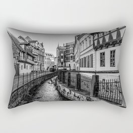 old timbered houses and moat Rectangular Pillow