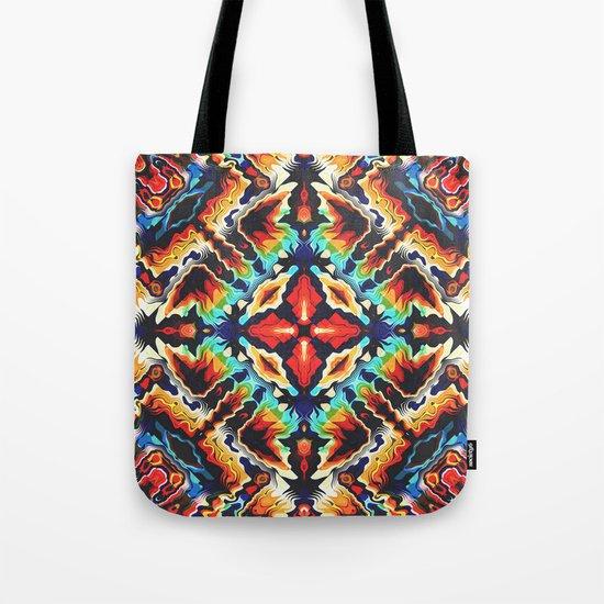 Ornate Geometric Colors Tote Bag