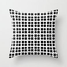 Squares & circles pattern Throw Pillow