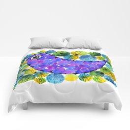 Circled Bird Comforters