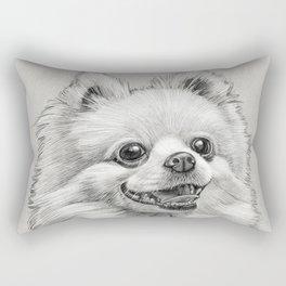 Smiling Dog (Pomeranian) Rectangular Pillow