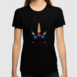 Unicorn 4th of July Girl print 4th of July Outfit T-shirt