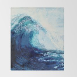 Waves II Throw Blanket
