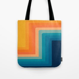 Retro 70s Color Lines Tote Bag