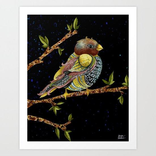 Positivity Bird 3 Art Print