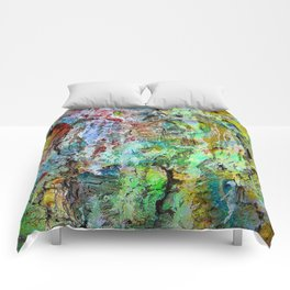 painted wall Comforters