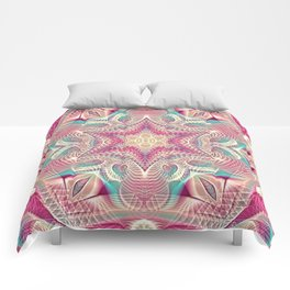 Flower Of Life Mandala (Sweet Embrace) Comforters