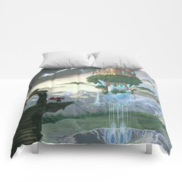 Sky Fortress Comforters