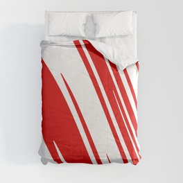 Candy Cane Christmas Red & White Stripes Abstract Pattern Design  Comforters
