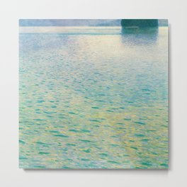 Island in the Attersee Gustav by Klimt Date 1902 // Abstract Oil Painting Water Horizon Scene Metal Print