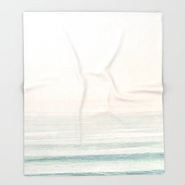 Washed Out Ocean Waves // California Beach Surf Horizon Summer Sunrise Abstract Photograph Vibes Throw Blanket
