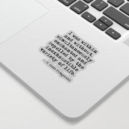 Within and without - F Scott Fitzgerald Sticker