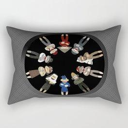 Sock Monkeys of the World Rectangular Pillow