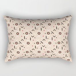 Memphis Tribes - Warm Beige Rectangular Pillow