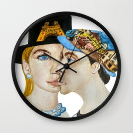 Paris is the Capital of Fashion and Love (Watercolour) Wall Clock