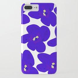 Blue Retro Flowers #decor #society6 #buyart iPhone Case