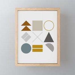 Mid West Geometric 02 Framed Mini Art Print