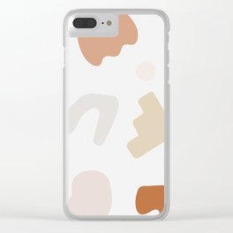 Abstract Shape Series - Autumn Color Study Clear iPhone Case