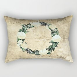 Wreath #White Flowers #Royal collection Rectangular Pillow